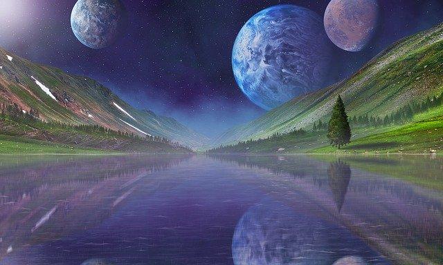 Space Planets Universe Moon Galaxy  - gene1970 / Pixabay